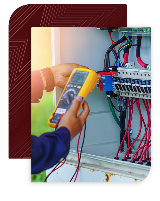 person checking low voltage box